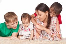 Free Family At Carpet Stock Image - 20762891