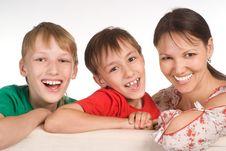 Free Family On Sofa Royalty Free Stock Photo - 20762905