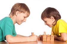 Two Boys Playing Royalty Free Stock Photography