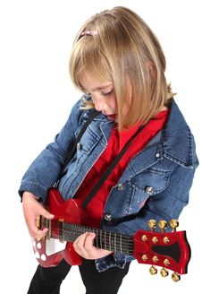 Free Little Girl Playing Guitar Royalty Free Stock Photos - 20763468