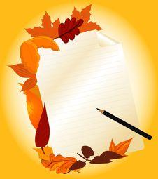 Theme Of Autumn Royalty Free Stock Photos