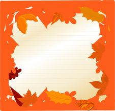 Free Illustration Autumn Frame Royalty Free Stock Photography - 20764427