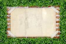 Free Old Poster In Grass Frame Royalty Free Stock Photo - 20764965