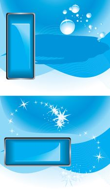 Blue Buttons On The Abstract Backgrounds Royalty Free Stock Photo