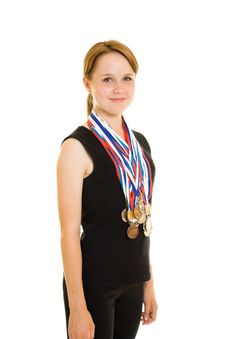 Free Girl Champion Stock Images - 20765214
