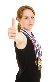 Free Girl Champion Royalty Free Stock Images - 20765229