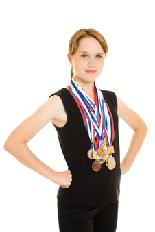 Free Girl Champion Royalty Free Stock Photography - 20765247