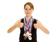 Free Girl Champion Royalty Free Stock Photo - 20765265