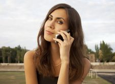 Free Pretty Girl Talking On The Phone Stock Images - 20765294