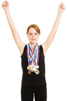 Free Girl Champion Royalty Free Stock Photos - 20765308