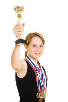 Free Girl Champion Royalty Free Stock Image - 20765346