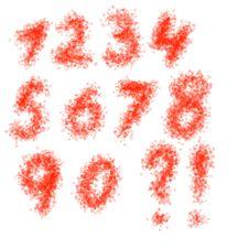 Free Hand Drawn Numbers Stock Photo - 20765380