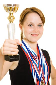 Free Girl Champion Stock Images - 20765404