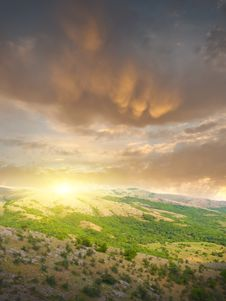 Free Sunset In Mountain Royalty Free Stock Images - 20766289