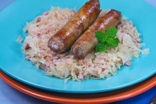 Free Two Sausages Royalty Free Stock Photography - 20766407