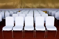 Free Row Of White Chair Royalty Free Stock Images - 20766489