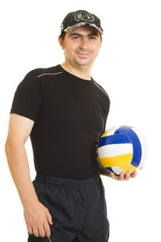 Free Volleyball Men With The Ball. Royalty Free Stock Photo - 20766545