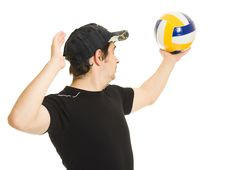 Free Volleyball Men With The Ball. Stock Images - 20766584