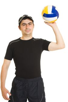 Free Volleyball Men With The Ball. Stock Image - 20766601