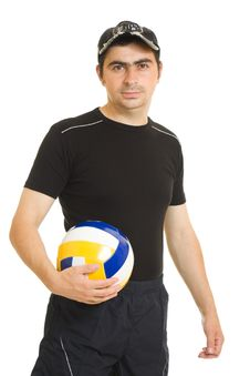 Free Volleyball Men With The Ball. Stock Image - 20766681
