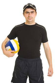 Free Volleyball Men With The Ball. Stock Photos - 20766693