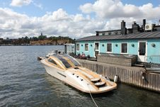 Free Fast Boat At Stockholm Harbor, Sweden Stock Photos - 20767393