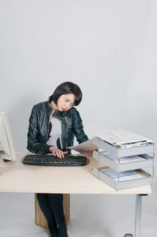Free Stressed Office Worker. Royalty Free Stock Photo - 20767855