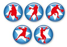 Free Basketball Badges Royalty Free Stock Photos - 20767878