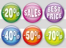 Free Sales Badges Stock Image - 20768021