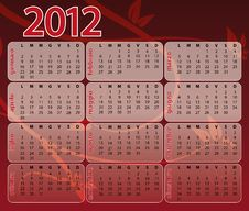 Free 2012 Red Calendar Stock Photo - 20768160