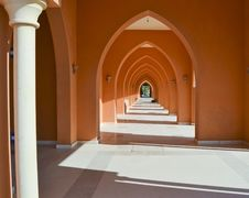 Corridor Of Arches Into The Distance Royalty Free Stock Photos