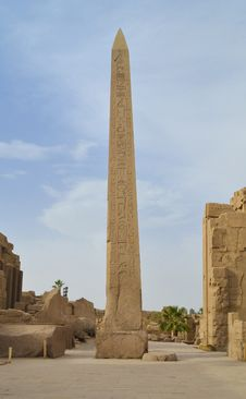 Obelisk At Karnak Temple In Luxor Stock Images
