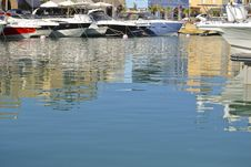 Free Private Boats Moored In A Marina Royalty Free Stock Photo - 20769385