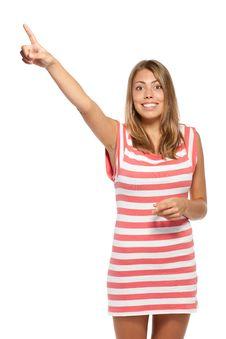 Free Pointing Upwards Royalty Free Stock Photos - 20769558