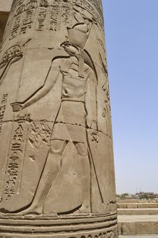 Free Column At The Temple Of Kom Ombo Royalty Free Stock Images - 20769969