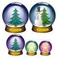 Free Snowglobe Set Stock Images - 20776594