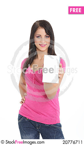 Free Young Women With A Product Stock Image - 20776711