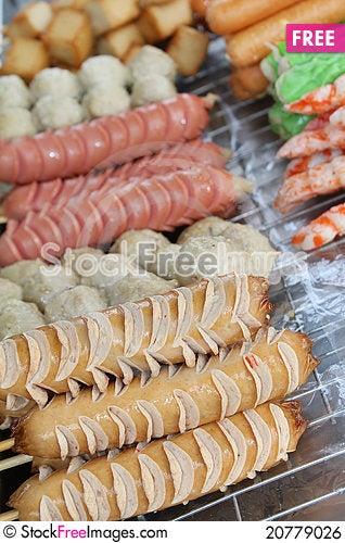Free Skewers Food Royalty Free Stock Image - 20779026