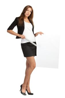 Free Business Woman With Blank Board Royalty Free Stock Photo - 20770415