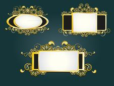 Free Gold Frame Stock Photography - 20770812