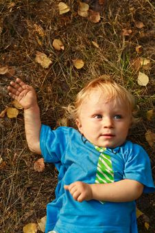 Free Baby Lying On Grass Royalty Free Stock Photos - 20770988