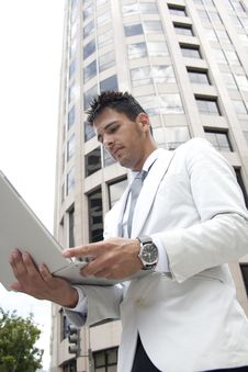 Free Business Man On Computer Stock Photo - 20771920