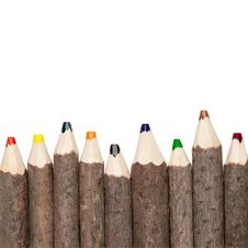 Free Coloured Pencils Square Royalty Free Stock Photography - 20771997