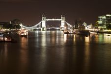 Tower Bridge And HMS Belfast Ship Stock Image