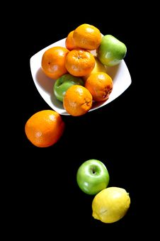 Free Fruits In A Ceramic Bowl Royalty Free Stock Photos - 20772458