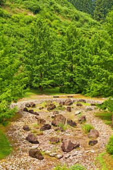 Garden Of Stones In Japan Stock Image