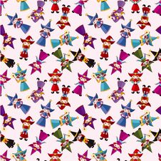 Free Cartoon Wizard And Witch Magic Seamless Pattern Royalty Free Stock Images - 20773329