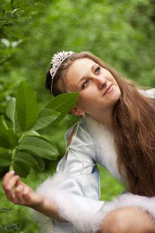 Free Pensive Snow Maiden Royalty Free Stock Photo - 20774305