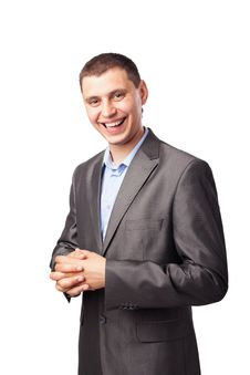Smiling Happy Young Businessman Stock Image