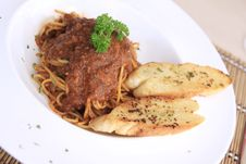 Free Spaghetti With Meat Sauce Stock Image - 20774451